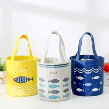 Beam Mouth Lunch Bag Large-Capacity Fresh-Keeping Insulation Lunch Box Bag Drum Aluminum Foil Thickening Insulation Bag недорого
