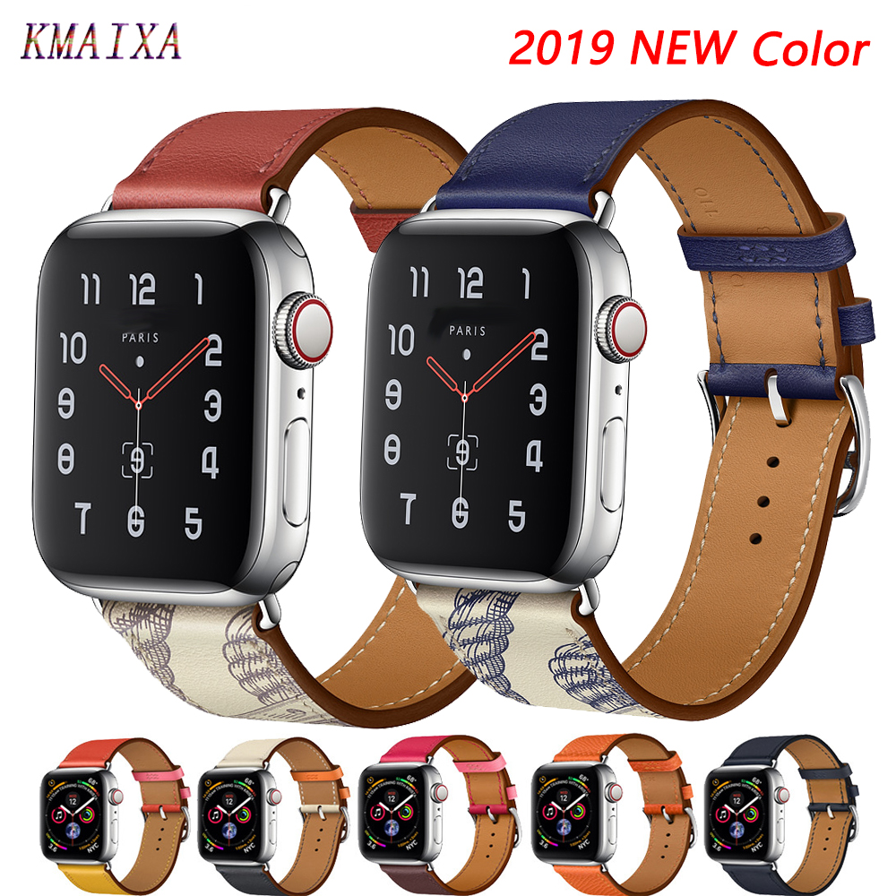 Leather Strap For Apple Watch Band 44 Mm Correa Apple Watch 42mm 38 Mm 40mm Iwatch 5 4 3 Single Tour Pulseira Bracelet Watchband