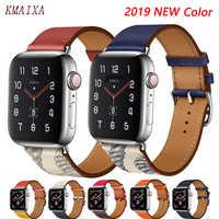 Lederband für apple watch band 44 mm correa apple watch 42mm 38 mm 40mm Iwatch 5 4 3 einzelnen tour pulseira armband armband