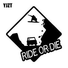 YJZT 16,3 см* 16,2 см ride Or Die для катания на сноуборде Творческий виниловые наклейки в виде Фотообоев c переводными картинками кузова автомобиля Наклейка украшение для автомобилей черный/серебристый C31-0343