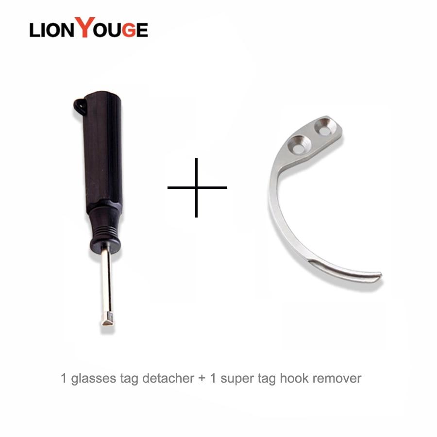 Handheld Detacher Hook Eas And 1+1 Piece Optical Security Tag Detacher Sunglass Tag Remover,super Tag Detacher Hook