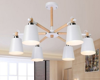 Nordic creative Japan wrought iron wood ceiling light living room bedroom Restaurant Ceiling light