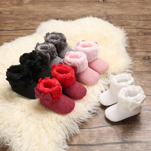 Shoes Toddlers Boots Snow Girls Baby Boys Soft Warm Kid Short 5-Colors Knitted 0-18-Months