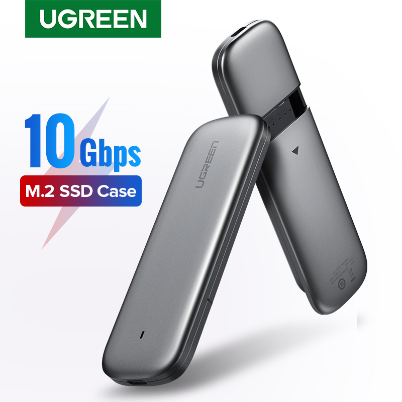 Ugreen M2 SSD Case NVME Enclosure M 2 to USB Type C 3 1 SSD Adapter for NVME PCIE NGFF SATA M B Key SSD Disk Box M 2 SSD Case