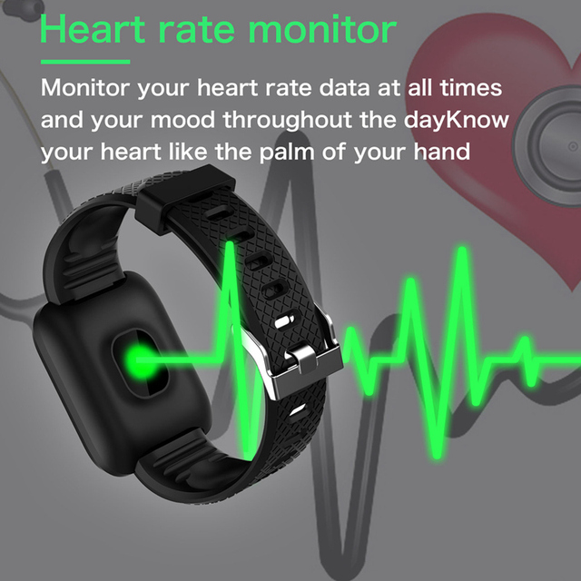 116 Plus Smart Watch Wristband Sports Fitness Blood Pressure Heart Rate Call Message Reminder Android Pedometer D13 Smart Watch 1