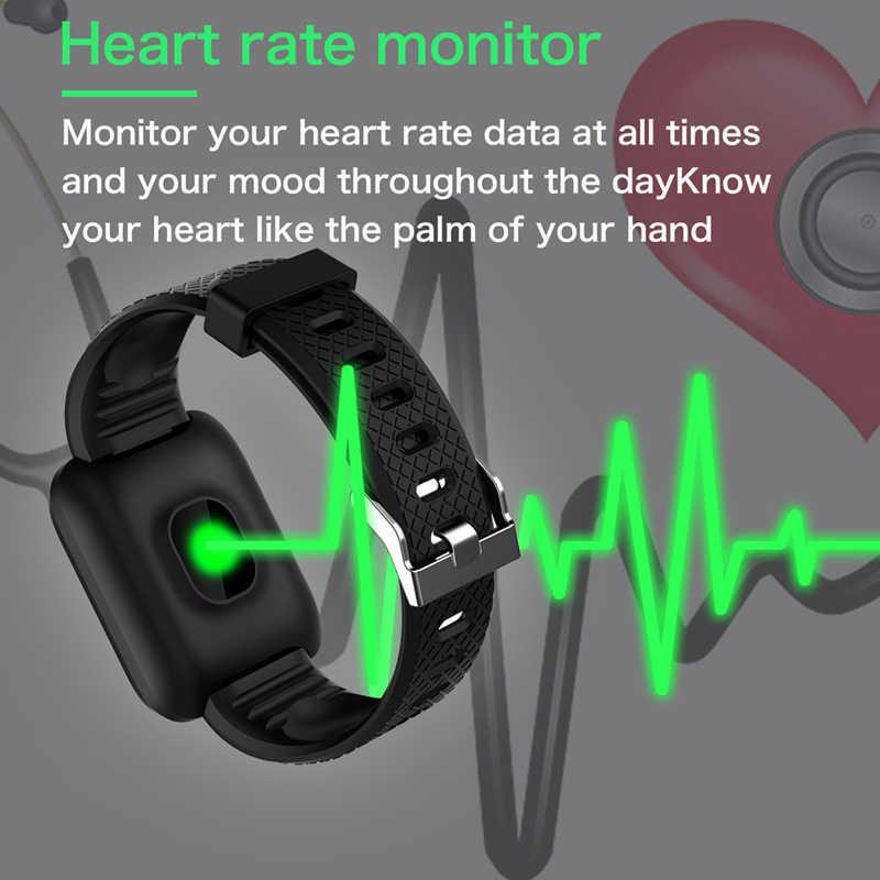 116 PLUS สมาร์ทนาฬิกาสายรัดข้อมือกีฬาฟิตเนสความดันโลหิต Call Reminder Pedometer D13 สมาร์ทนาฬิกา Z2