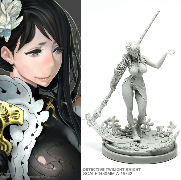 30MM Resin Kits  Kingdomdeath  Goddess Series Cleric Death  Self-assembled A-19742