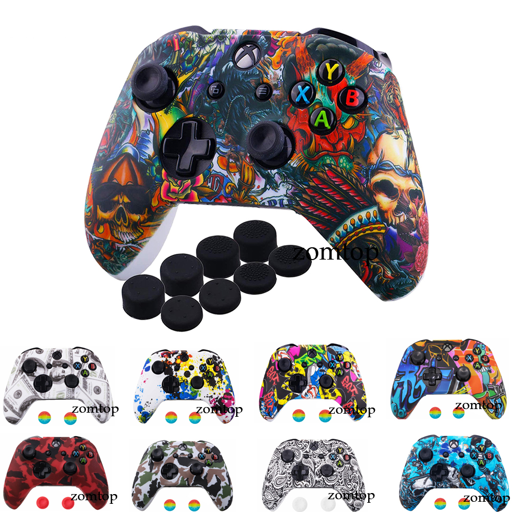 For Xbox One X S Controller Gamepad Camo Silicone Cover Rubber Skin Grip Case Protective For  Slim Joystick|Cases|   - AliExpress