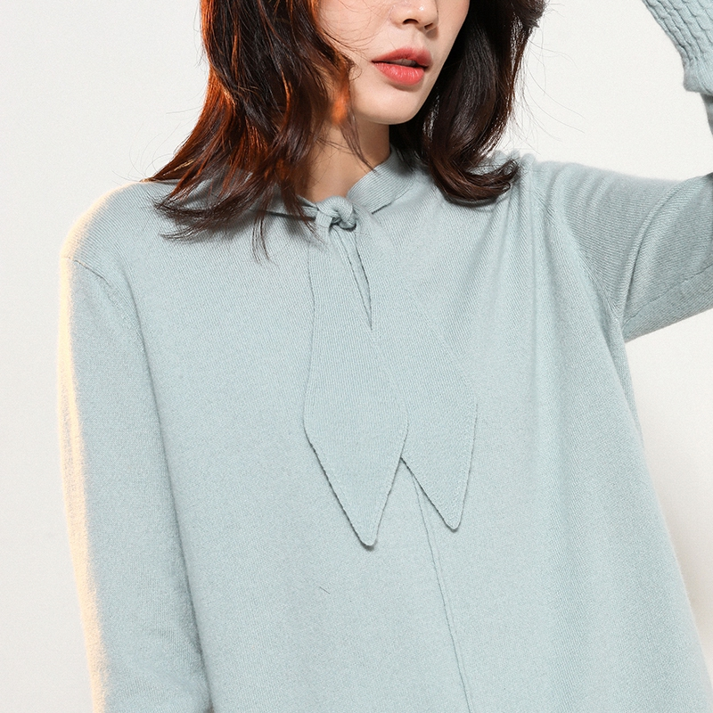 Women Pullover 100% Pure Cashmere Knitted Sweaters Loose Oneck Winter Fashion Ladies Jumpers 6Colors Standard Woman Sweater