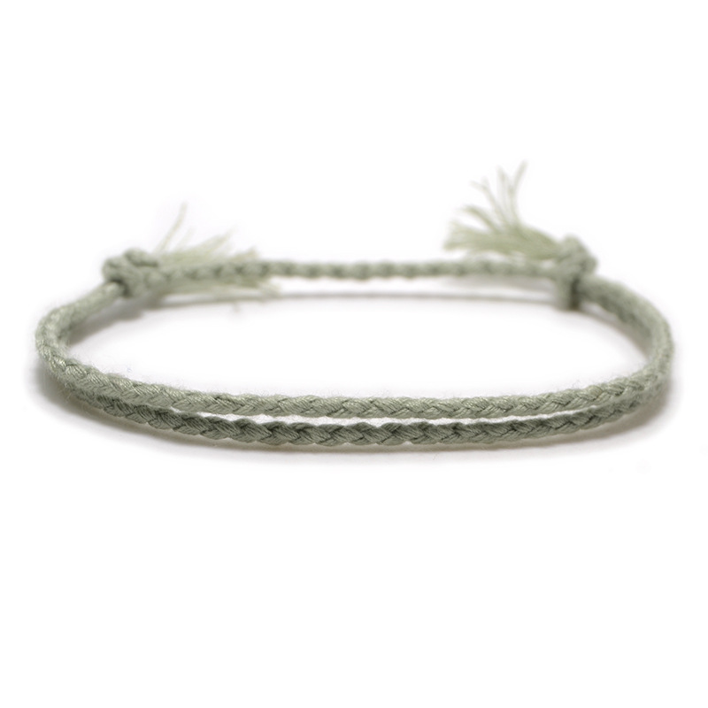Meetvii Simple Woven Cotton Rope String Bracelet Pray Yoga Handmade Pure Color Chic Tassel Bracelet for Men Women 2020 New