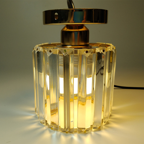 luzes de teto led cristal abajur balck
