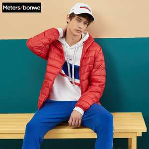 Jacket Men Padded-Coat Hooded-Light Metersbonwe Cotton New Youth Student