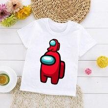 Nouveau jeu parmi nous T-shirt enfants haut d'été dessin animé T-shirt garçons filles mignon imposteur graphique unisexe mode bébé T-shirt 21653