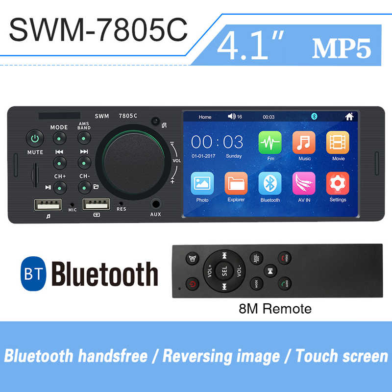 Touch Screen 4 Inch 1din Voor Android Auto Radio Coche Autoradio Hd Dual Usb Auto MP5 Speler Bluetooth Hands-gratis Auto Multimedia