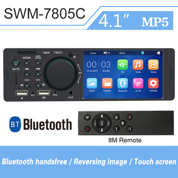 Touch Screen 4 Inch 1din For Android Car Radio Coche Autoradio HD Dual USB Car MP5 Player Bluetooth Hands-Free Car Multimedia image