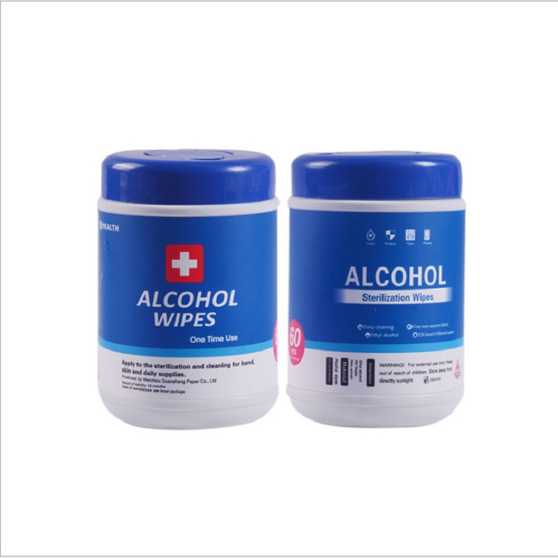 60PCS 75% Alcohol Disposable Disinfection Paper 99% Sterilization Cleaning Wipes Cotton Pieces Health Safety Care Bottled