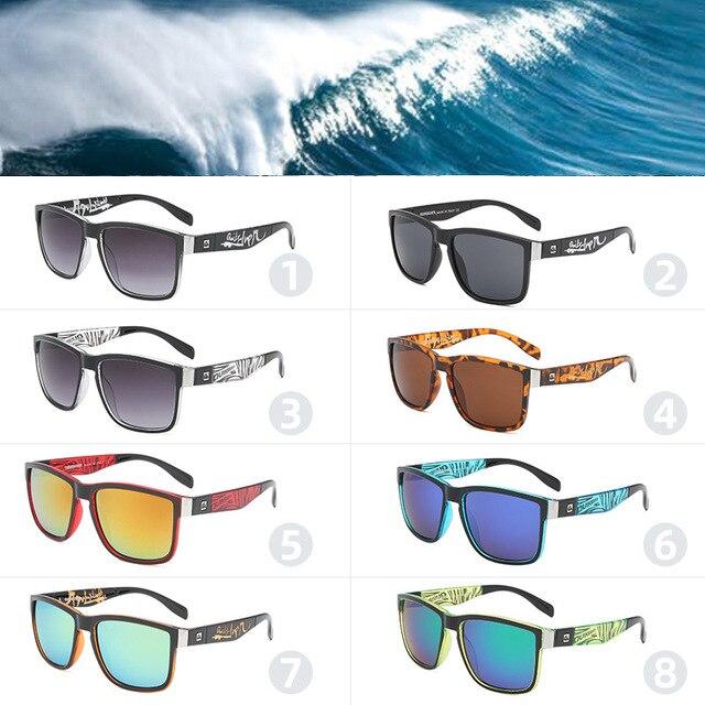 Gafas de sol cuadradas clásicas para hombre y mujer, lentes de sol coloridas para deportes al aire libre, playa, pesca, viajes, UV400 2