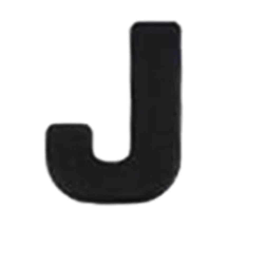 Voiture 3D lettre voiture autocollants anglais lettres voiture logo bricolage alphanumérique métal corps autocollants mot marque queue argent