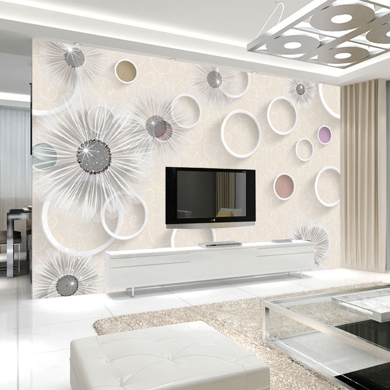 Living Room Bedroom TV Backdrop Wall Wallpaper Painting 3D Non-woven Wallpaper Large Mural Modern Minimalist Wall Cloth