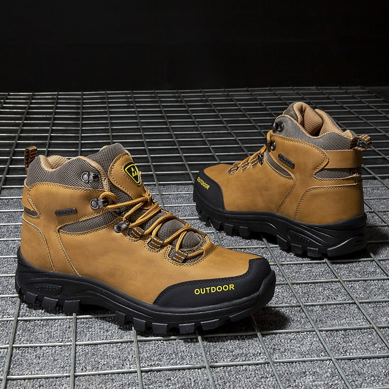 Brand Men Winter Snow Boots Warm Super Men High Quality Waterproof Leather Sneakers Outdoor Male Hiking Boots Work Shoes 39-46