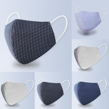 Reusable Mouth Mask Dot Striped Print Face MaskAnti-pollution Breathable Mouth Caps Adult Washable Protective Mask mascarillas