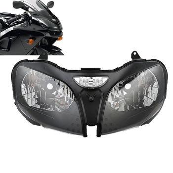 цена на Motorcycle Headlight Head Lamp Assembly For Kawasaki Ninja ZZR600 ZX6R 00-02 ZX9R 2000-2003 2001 2002