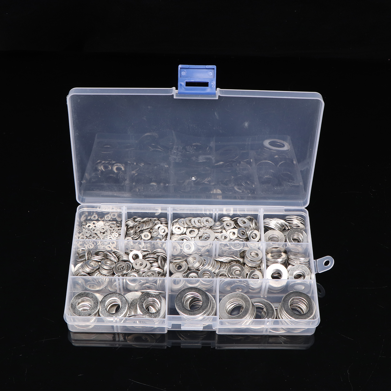 1010pcs Stainless Steel <font><b>Washer</b></font> Set M2 M3 M4 M5 M6 <font><b>M8</b></font> M10 M12 <font><b>Washer</b></font> Flat <font><b>Washers</b></font> Ring Plain <font><b>Washer</b></font> Gaskets Assortment Kit image