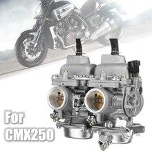 Twin คาร์บูเรเตอร์คาร์โบไฮเดรตคู่ Chamber ASSY การใช้ Filter สำหรับ Honda Rebel CA CMX 250 C CMX250 CA250