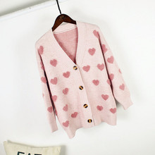 Fashion Maternity Sweaters Coat Winter Sweater Female Knit Cardigan Long Sleeve V-neck Pregnant Women Clothes Sweter