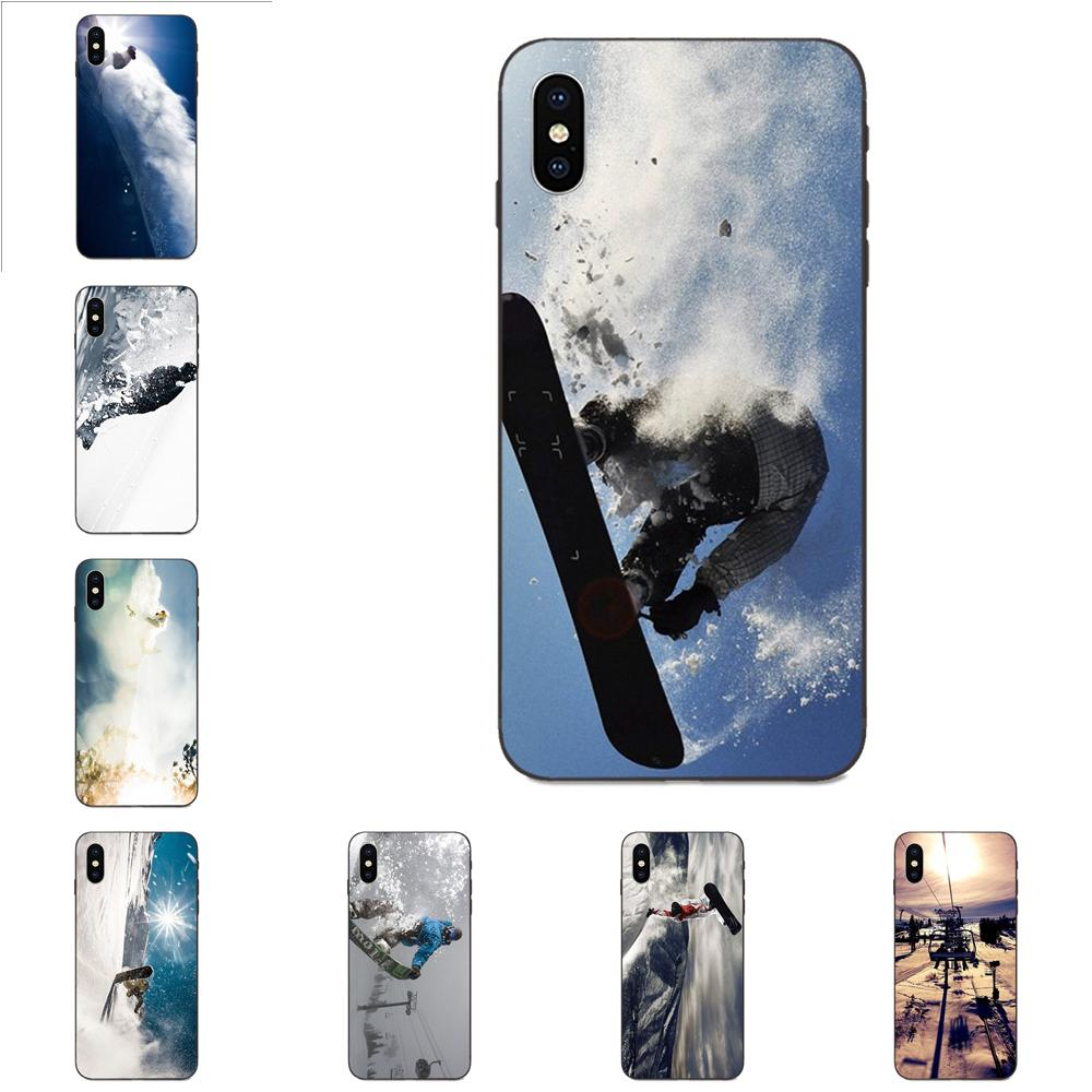 Awesome Love Snow Or Die Ski Snowboard For Galaxy A8 A9 Star Note 4 8 9 10 S3 S4 S5 S6 S7 S8 S9 S10 Edge Lite Plus Pro G313