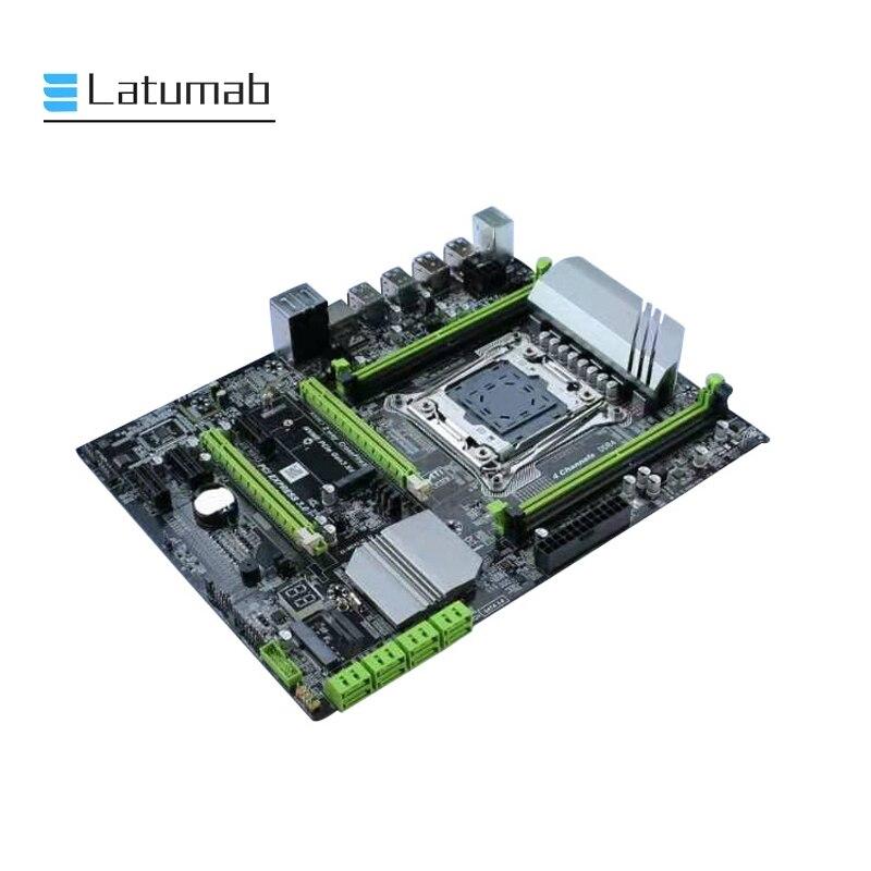 X99 Desktop Motherboard LGA 2011-3 LGA2011-3 With Dual M.2 NVME Slot Support Four Channels DDR4 ECC SATA 3.0 USB 3.0