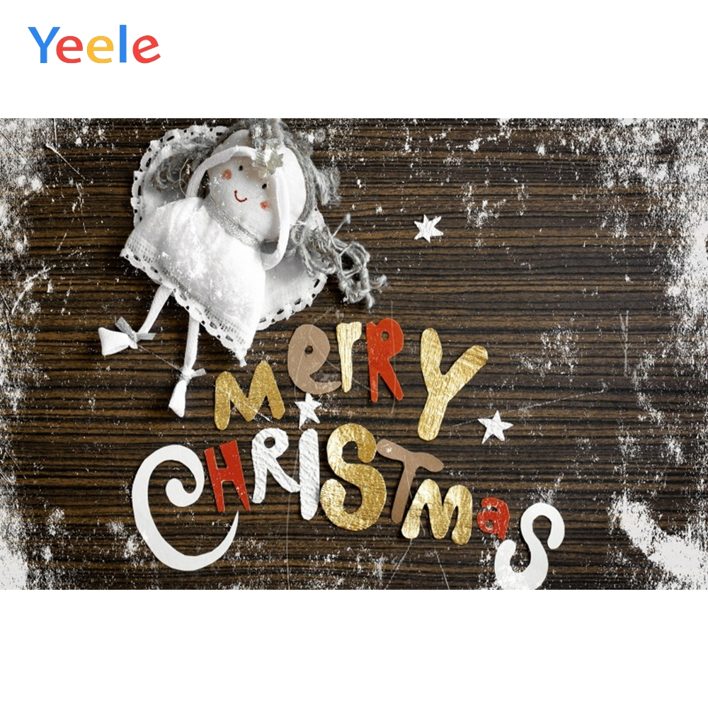 Yeele Christmas Photocall Snow Old Wood Doll Toys Photography Backdrops Personalized Photographic Backgrounds For Photo Studio in Background from Consumer Electronics