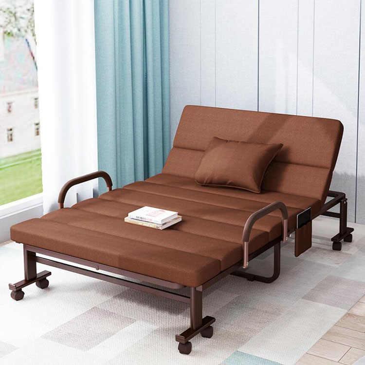 Sillón de cama plegable para hogar, oficina, Hospital, dormir relajante, cama portátil de compañía, sillón Lazy Lounge, sofá con ruedas de 190x90cm