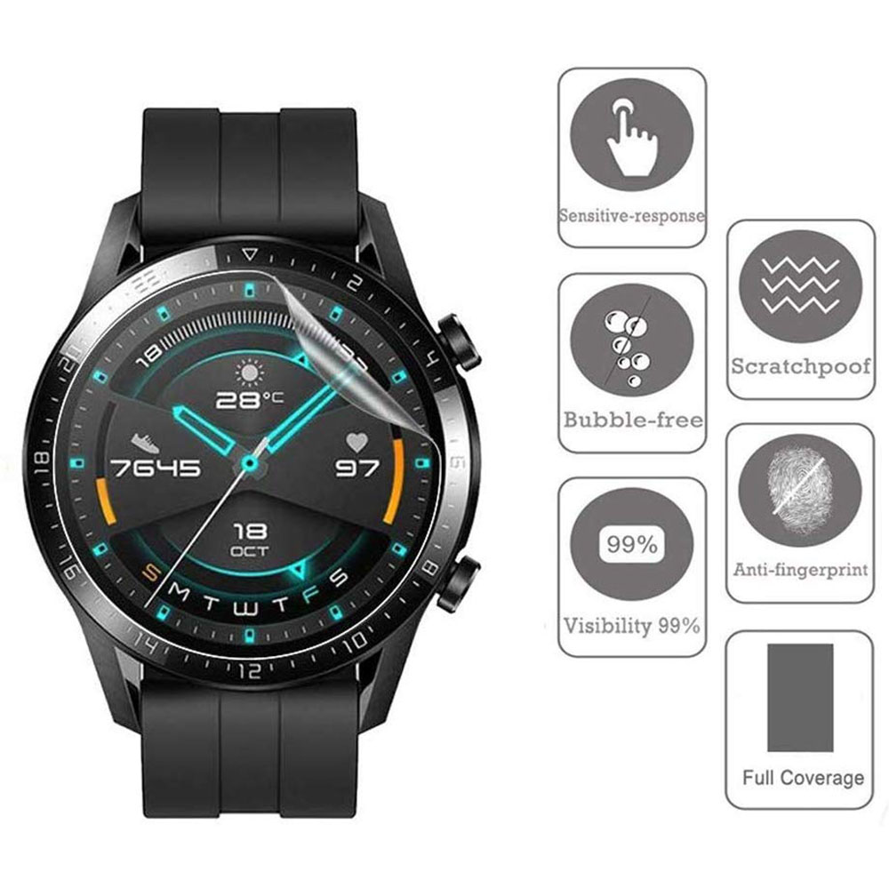HD Protective Film for Huawei Watch GT GT2 46mm Ultra-thin Full Cover Screen Protector Film