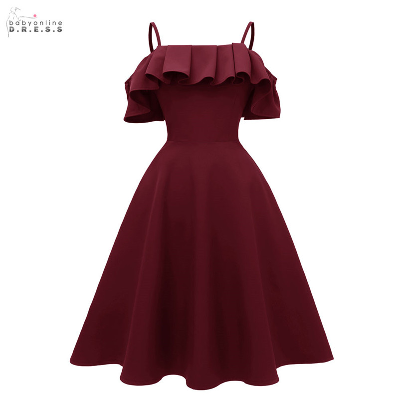 2019 New Fashion Design Burgundy   Cocktail     Dresses   Boatneck Sexy Backless Draped Party   Dresses   Vestidos Coctel Robe de   Cocktail