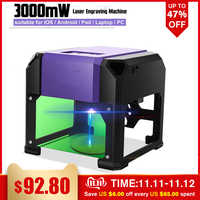 3000 mw usb desktop máquina de gravura do laser diy logotipo marca impressora cortador cnc máquina de escultura a laser para win/sistema mac os