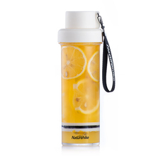Simple Portable Water Bottle Tea Separation Transparent Cup 400ml 21.5*6cm cool shining discoloring skull cup transparent 400ml 2 x cr2025