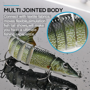 Image 5 - VTAVTA 3/5pcs Artificial Pike Wobblers Fishing Lures Set 12.5cm 20g Multi Jointed Hard Bait Crankbait Swimbait Fishing Tackle