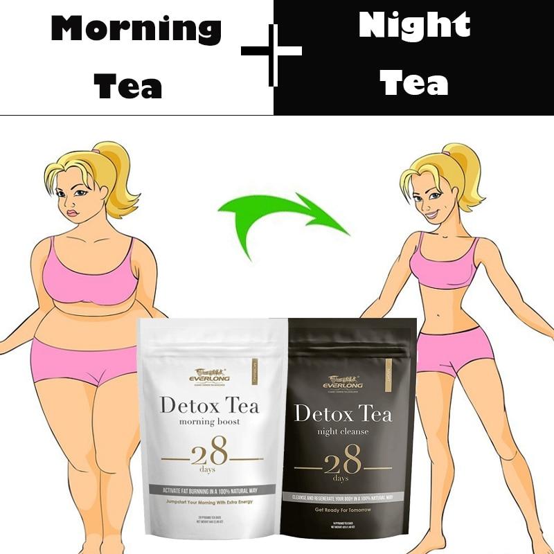 28 дней Детокс чай для вечернего и утреннего сжигания жира очистка толстой кишки плоский живот естественный баланс продукты для похудения и ...