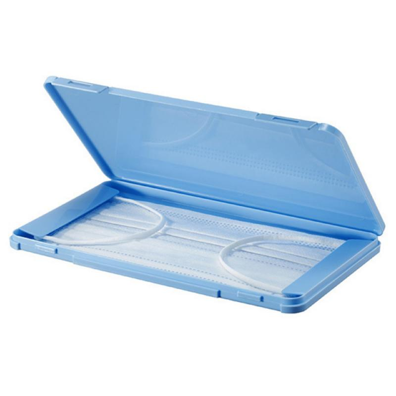 1 Mask Case Portable Disposable Face Masks Container Safe Pollution-Free Disposable Mask Storage Box Storage Organizer