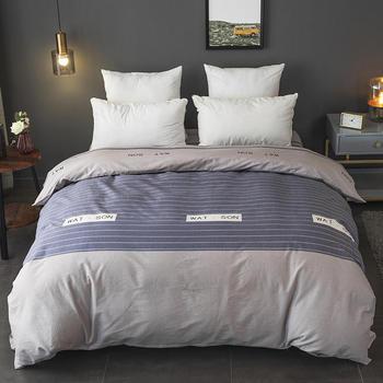 Cotton sanding Duvet Cover monopoly bedding set blue grey Quilt Cover 160cmx210cm/180cmx220cm/200cmx230cm/220cmx240cm