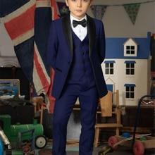 Tuxedos Pants Custom Wedding Casual Jacket Formal Vest Groom Party Three-Pieces Teens