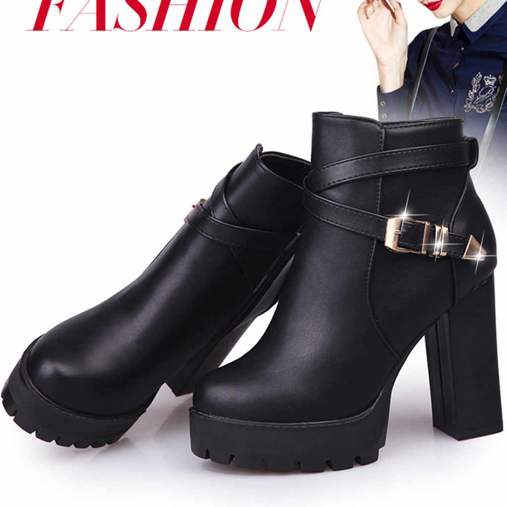 10CM artış kadın kış ayakkabı yan fermuar kar botları Martin kürk kare sıcak tutmak vahşi günlük çizmeler