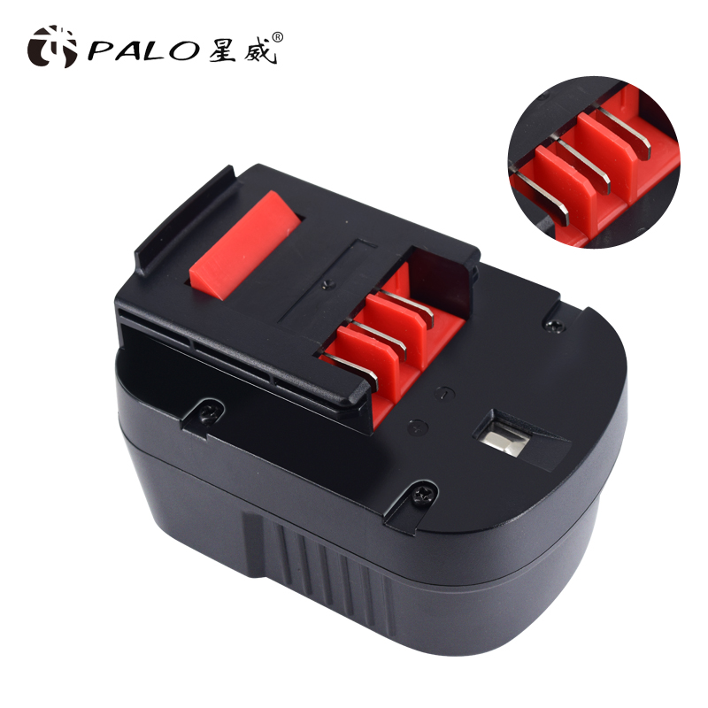 PALO High Quality 12V 3000mAh Rechargeable Battery Pack for Black Decker Drill A12 A12EX FSB12 A1712 HP12K HP12KD Ni-MH Bateria image