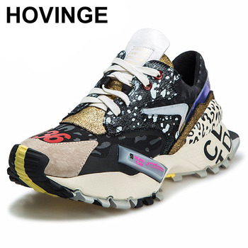 HOVINGE Sneakers Women Trendy Chunky Dad Shoes Woman Fashion Thick Sole Ladies Platform Shoe Laces zapatillas mujer