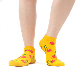 Image 2 - SANZETTI 12 Pairs/Lot Summer Women Casual Novelty Colorful Combed Cotton Ankle Socks Harajuku Happy Short Socks Plaid Tend Socks