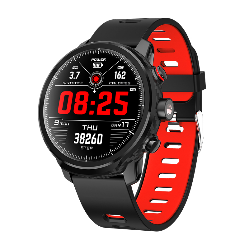 New <font><b>L5</b></font> <font><b>Smart</b></font> <font><b>Watch</b></font> <font><b>Men</b></font> <font><b>IP68</b></font> Waterproof Multiple Sports Mode Heart Rate Weather Forecast Bluetooth Smartwatch Standby 100 Days image