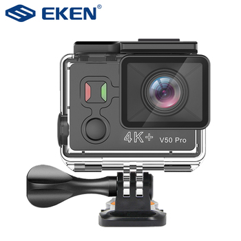 EKEN V50 Pro Mini Action Camera Ambarella A12 Real 4K WiFi Go Waterproof Motorcycle Sport with H9 H6s H5s plus Remote - discount item  22% OFF Camera & Photo