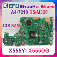 KEFU X555DG motherboard FIT For ASUS X555DG A555DG X555QG X555YI laptop motherboard A4-7210 R5-M320 4GB Test work 100%