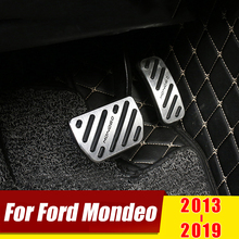 цена на For Ford Mondeo Fusion 2013 2014 2015 2016 2017 2018 AT Car Accelerator Pedal Brake Pedals Non Slip Cover Case Pad Accessories